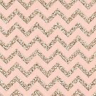 PINK GLITTER CHEVRON by MadNic