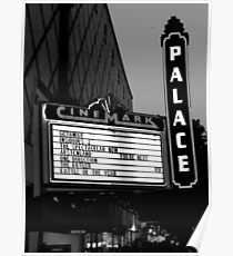 Movie Theater Neon Lights Poster