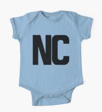 North Carolina NC Black Ink One Piece - Short Sleeve