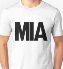 MIA Miami International Airport Black Ink Slim Fit T-Shirt