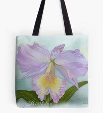 Cattleya Orchid Happy Birthday Greeting Card Tote Bag