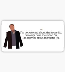 Turtle Flu Guy Parks and Recreation Sticker