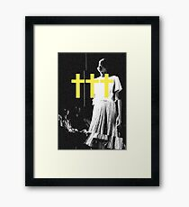 ††† (Crosses) - Yellow Variant Framed Print