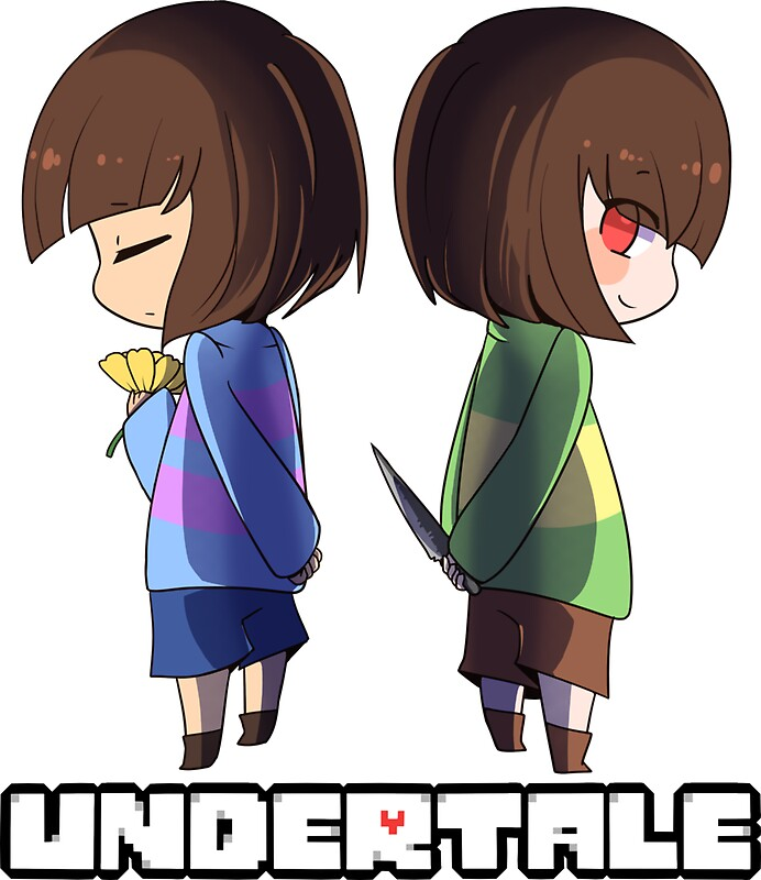 """Undertale - chara and frisk"""" Stickers by CoolGuyEnzo 