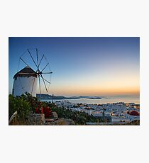 Chora of Mykonos Photographic Print