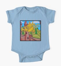 suesslike bird in flight (square) Kids Clothes