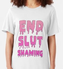 End Slut Shaming Slim Fit T-Shirt