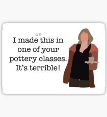 Pottery Class Lady Parks and Recreation Sticker