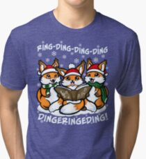 """What does the Fox Sing"" (T-shirts) Tri-blend T-Shirt"