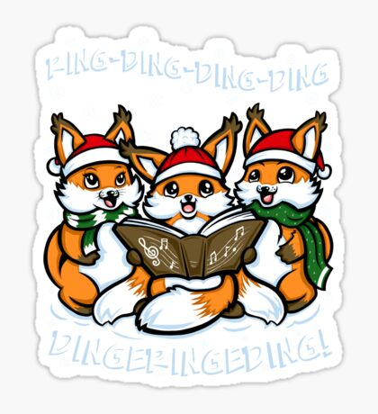 """""""What does the Fox Sing"""" (T-shirts) Sticker"""
