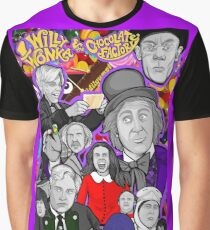 willy wonka and the chocolate factory character collage Graphic T-Shirt