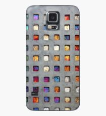 Red Grid Phone Case Case/Skin for Samsung Galaxy