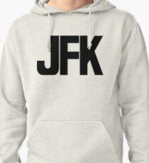 JFK John F Kennedy International Airport Black Ink Pullover Hoodie