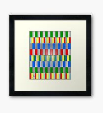 Colorful Blocks Framed Print