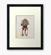 TYJJ - Thank You Jiu-Jitsu IMAGE - PINK Framed Print