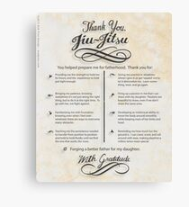 The TYJJ Manifesto (Thank You Jiu-Jitsu) DAUGHTER Canvas Print