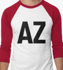 Arizona AZ Black Ink Men's Baseball ¾ T-Shirt