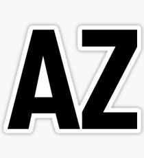 Arizona AZ Black Ink Sticker