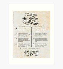 The TYJJ Manifesto (Thank You Jiu-Jitsu) NEUTRAL/PLURAL    Art Print