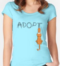 Adopt Cats Dark Claw Marks | Patch & Rusty™ Women's Fitted Scoop T-Shirt