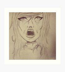 Screaming Girl Art Print