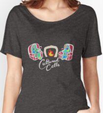 Camiseta ancha para mujer células cultivadas