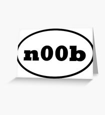 Noob slang greeting cards redbubble n00b greeting card m4hsunfo