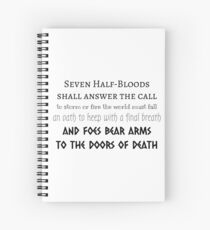 Prophecy of the Seven - Black Spiral Notebook