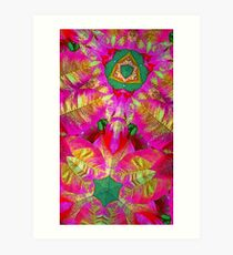 Psychedelic Poinsettia Art Print