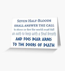 Prophecy of the Seven - Blue Greeting Card