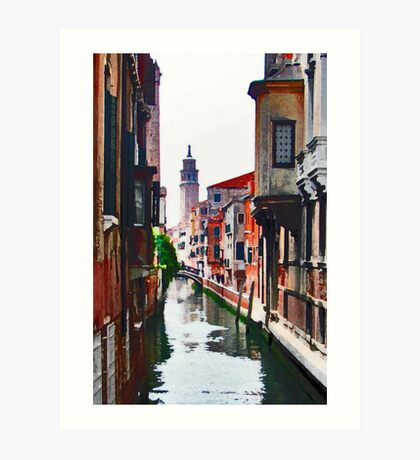 Canal View Art Print