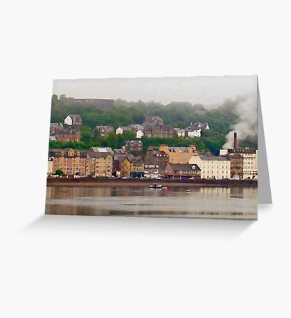 Oban Harbour Greeting Card