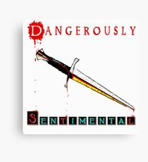 Dangerously Sentimental Dagger Canvas Print
