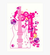 GUITAR-POP TUNES Art Print
