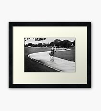 Bike Rider South Perth Framed Print