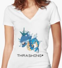 Thrashing! Nigeldos Women's Fitted V-Neck T-Shirt