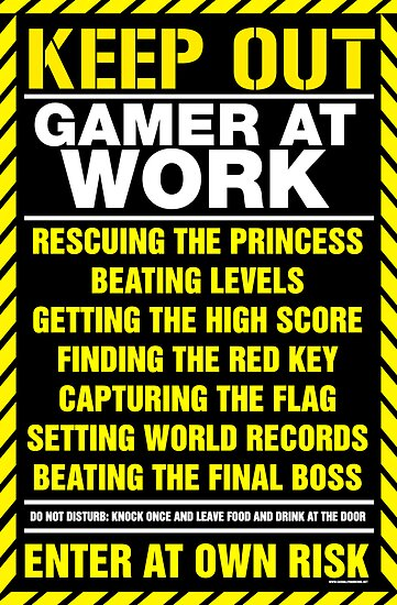 Quot Gamer At Work Poster Quot Poster By Geekgamer Redbubble