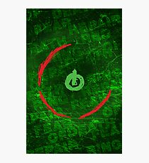 Red Ring Of Death Poster Photographic Print