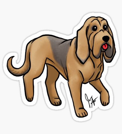 Bloodhound Glossy Sticker