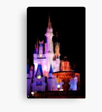 Warm Fountain, Cool Castle Canvas Print