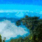 Kauai Na Pali Coast From Koke'e Abstract Impressionist by pjwuebker
