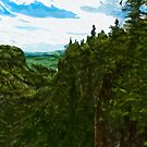Ouimet Canyon Canada Abstract Impressionism by pjwuebker