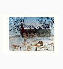 Winter Tidbits Art Print