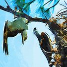 Osprey Takes Flight Abstract Impressionism by pjwuebker