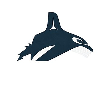 Vancouver Canucks orca alternate ice logo by rcvan