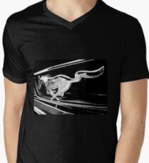 Black and White - '66 Mustang grill (2013) Men's V-Neck T-Shirt