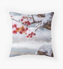 Christmas Berry Throw Pillow