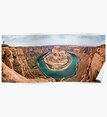 Horseshoe Bend Panorama shot Poster