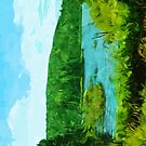 Northern Minnesota Lake in Summer Abstract Impressionism by pjwuebker