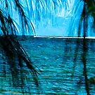 Hanalei Bay Kauai Abstract Impressionism by pjwuebker